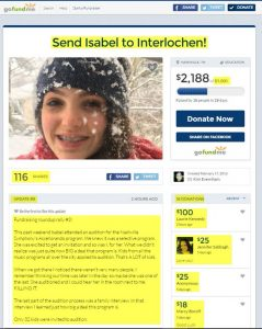 Send Isabel to Interlochen!