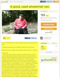 William Corvo - Support A good, used Wheelchair Van