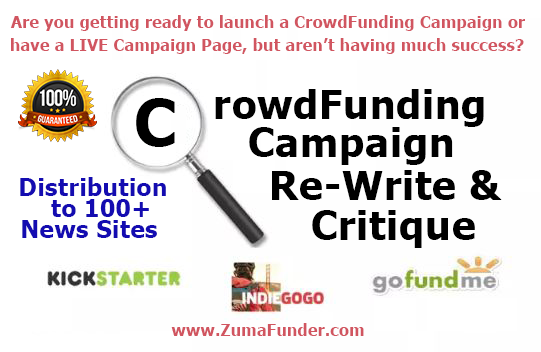 CrowdFunding Campaign ReWrite News Promotion GoFundME Booster